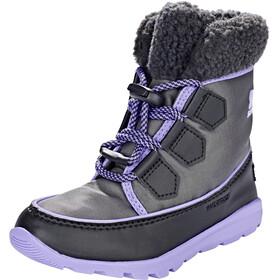 Sorel Whitney Carnival Bottes Enfant, dark grey/paisley purple